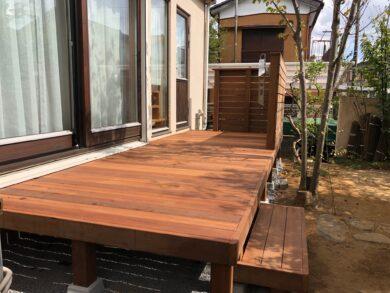 埼玉県さいたま市のウッドデッキ施工例